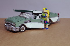 1955 Buick Century Convertible, Surfer with Surfboard photo by lego911