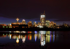 Calgary Skyline at Night, With Reflections photo by Darryl Renyk Photography