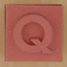 Rubber Stamp Letter Q