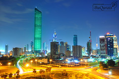 Al Hamra Tower Green Light 11/11/2011 photo by MohammeD BuQuRais