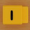 Pushfit cube letter I