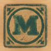 Vintage Wooden Block Letter M