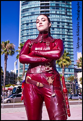 Mord-Sith of the Sword of Truth taking the city by storm at Comic-con 2011. photo by andreas_schneider
