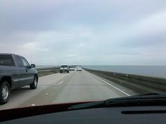 Driving across a 24+ mile bridge