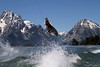 Don Watkins catches some air wakeboarding on Jackson Lake over the weekend.