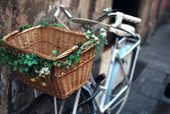 Decorated bike basket photo by josemanuelerre