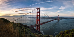 Golden Gate Panorama photo by Sebastian (sibbiblue)