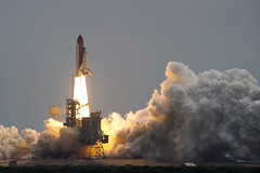 Space Shuttle Atlantis lifts off from Kennedy Space Center for the last time photo by Official U.S. Navy Imagery