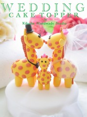 LOVE ANGELS Wedding Cake Topper-love giraffe with lovely baby photo by charles fukuyama
