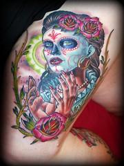Tatouage Sugar Skull 13 aout 2011 photo by madyson93