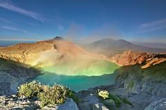 The world's largest acidic volcanic crater lake, Ijen Crater. photo by tropicaLiving - Jessy Eykendorp