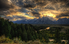 Grand Sunset in Grand Teton  ~Explore~ photo by Tom Lussier Photography