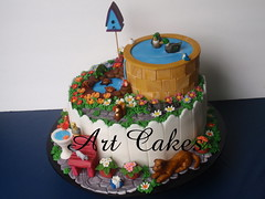 The Garden Cake photo by Art Cakes