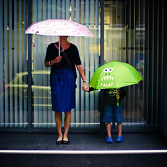 rainy hbm with umbrella monster! photo by Kirstin Mckee