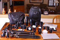 Gear for our Vegas trip this weekend! photo by Jim Boomer Photography