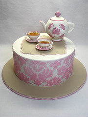High Tea Baby Shower Cake photo by Creative Cakes by Julie