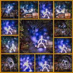 Light painting-The Making of,or the reverse light 'shadow' photo by Le Velo Indigo