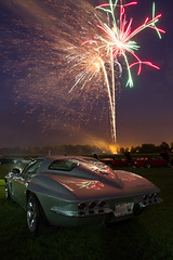 Corvettes and Fireworks - What could be better? photo by w4nd3rl0st (InspiredinDesMoines)