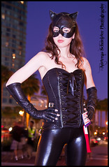 This sexy Catwomen takes on San Diego by night. Comic-Con 2011 photo by andreas_schneider