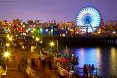 Santa Monica - Evening at the pier photo by PatrickSmithPhotography