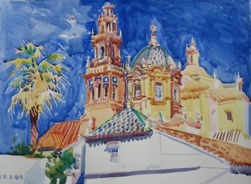 San Pedro; 70x54cm; Watercolour on paper