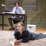 Sean Fortunato (Henry) and Carrie Coon (Annie) in THE REAL THING at Writers Theatre. Photos by Michael Brosilow.