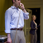 Sean Fortunato (Henry) and Carrie Coon (Annie) in THE REAL THING at Writers Theatre. Photos by Michael Brosilow