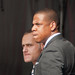 Jay-Z and Brett seem tense