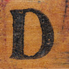 rubber stamp handle letter D