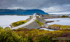 Storseisundet Bridge on the Atlantic Ocean Road - Norway photo by Frank Smout