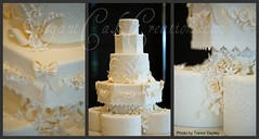 Roses and Lilies Wedding Close ups photo by Elegant Cake Creations AZ