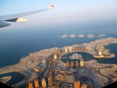 """The Pearl"" from air - Doha, Qatar photo by hellimli"