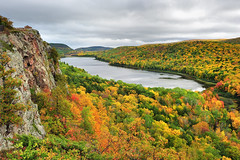 """lake of the Clouds"" Porcupine Mountain Wilderness State Park photo by Michigan Nut"