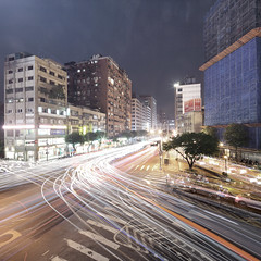 Taipei Busy Cross photo by spiraldelight