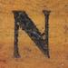 rubber stamp handle letter N