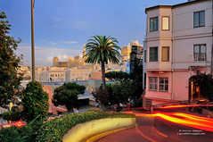 Sunset on Lombard Street - San Francisco, California photo by Darvin Atkeson