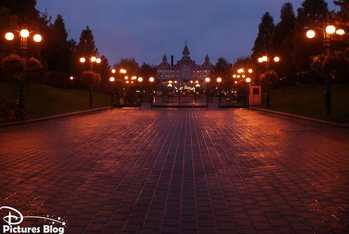 Parc Disneyland - avant l'ouverture