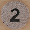 Wooden Bingo Number 2