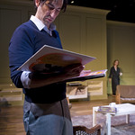 Sean Fortunato (Henry) and Natasha Lowe (Charlotte) in THE REAL THING at Writers' Theatre.Photos by Michael Brosilow.