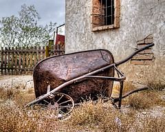 Rusted Wheel Barrel photo by Jim Purcell