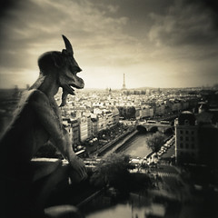 Gargoyle, Notre Dame, Paris, France (Print) photo by Martins Photo Scrap Book