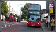 Arriva London DW280 on route 59 Waterloo 01/10/11. photo by Ledlon89