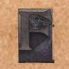 rubber stamp letter F