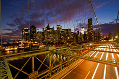 #81 - Brooklyn Bridge and Financial District at dusk photo by Cliff_R (Thomas Richter)