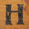 rubber stamp handle letter H