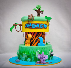 Andrew's jungle cake photo by Its A Cake Thing (Jho)