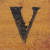 rubber stamp handle letter V