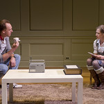 John Sanders (Max) and Carrie Coon (Annie) in THE REAL THING at Writers Theatre. Photos by Michael Brosilow.