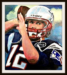 Tom Brady - Acrylic Painting by STEVEN CHATEAUNEUF photo by snc145