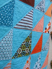 HST Baby Boy Quilt - Detail photo by Laura @ Needles, Pins and Baking Tins